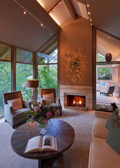 Contemporary Living Room by Richard Brown Architect AIA