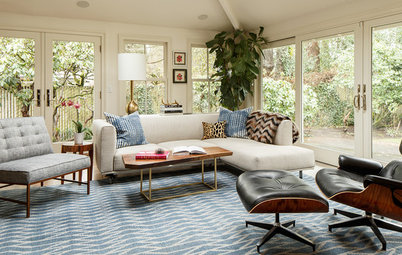 Room of the Day: Stylish Living Space With a Midcentury Twist