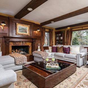 Living room - transitional living room idea in New York