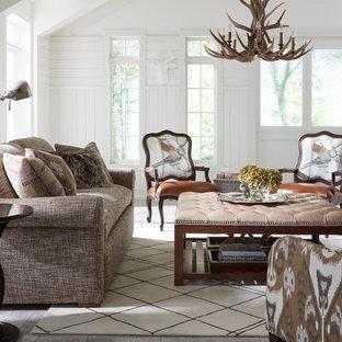 Living room - transitional living room idea in Austin