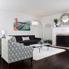 Modern Living Room by Lane Design Studio llc