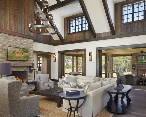 Ranch estate - Rustic chic living room ...