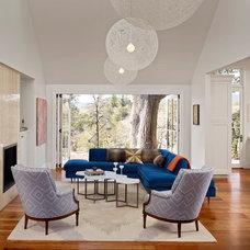 Farmhouse Living Room by Bevan Associates