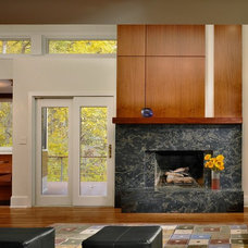 Contemporary Living Room by HR Construction Inc.