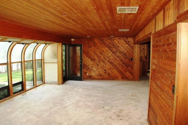 Contemporary Living Room Ranch renovation