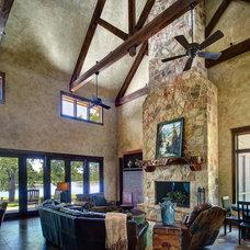 Rustic Living Room by Ellis Custom Homes LLC