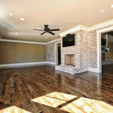 Traditional Living Room by Benham Builders