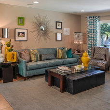 Eclectic Living Room by InsideStyle Home and Design