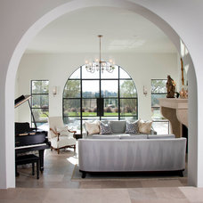Mediterranean Living Room by Friehauf Architects Inc.