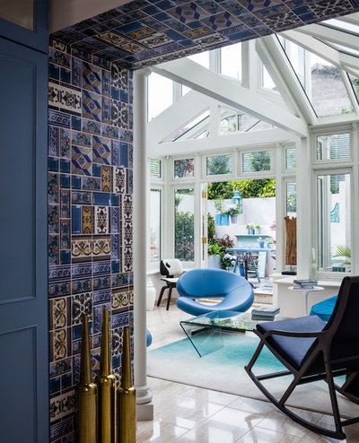 Eclectic Living Room by Kingston Lafferty Design