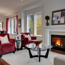 Craftsman Living Room by Isola Homes