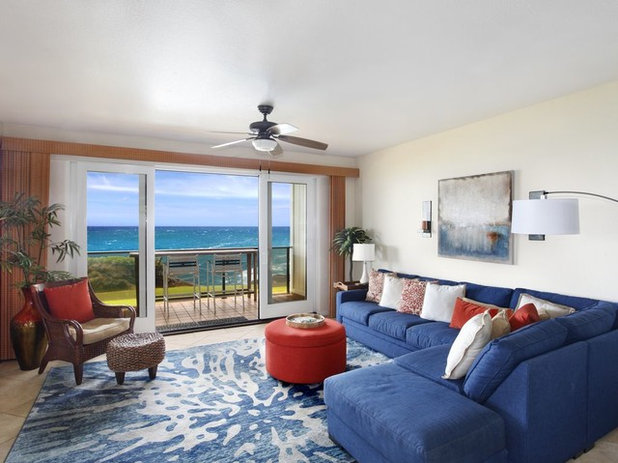 Beach Style Living Room by DesignFix