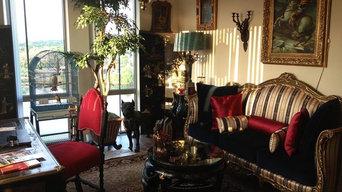 Re-upholstery in velvet