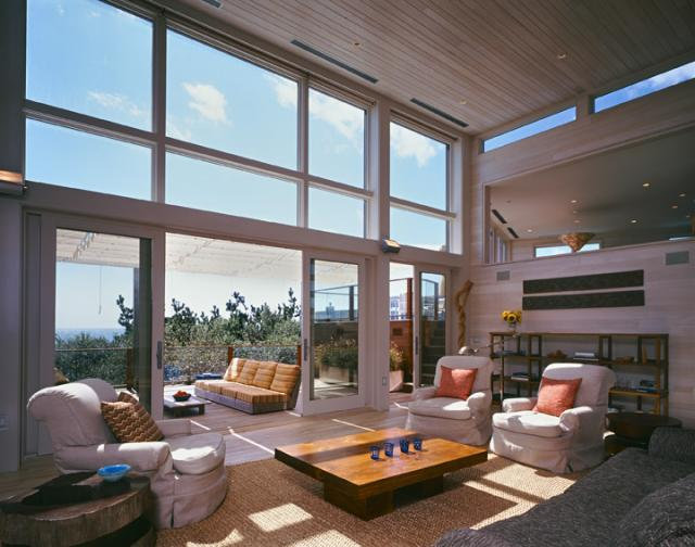 Contemporary Living Room by r.e.a.l.  ronald evitts architect llc