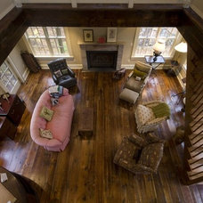 Farmhouse Living Room by Real Antique Wood Mill