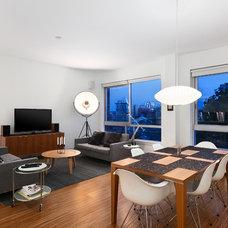 Modern Living Room by Two Column Media