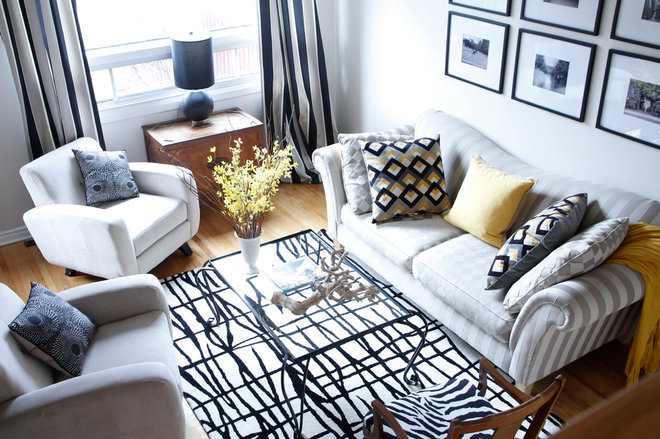 My Houzz A Montreal Townhouse Gains Graphic Appeal