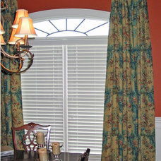 Traditional Living Room by Sally Phillips Custom Window Treatments