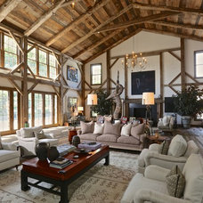 Rustic Living Room by O. Henry House, ltd.