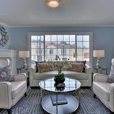 Transitional Living Room by Staging Artists