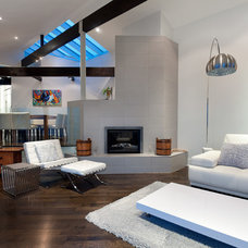 Contemporary Living Room by blurrdMEDIA