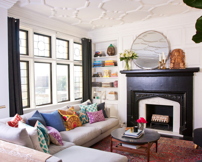 Traditional Living Room by Regan Wood Photography