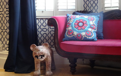 Houzz Tour: Color and Pattern Liven Up a London Home