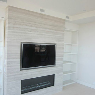 Recessed Tv Above Fireplace Houzz