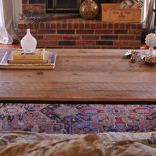 Eclectic Living Room Reclaimed Barnwood Coffee Table