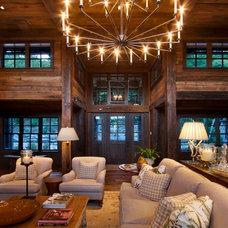 Rustic Living Room by Morgan-Keefe Builders, Inc.