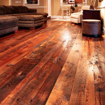 Reclaimed Tobacco Pine Hardwood Flooring