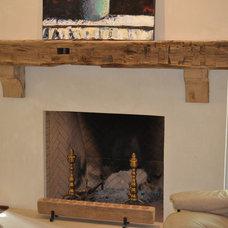 Rustic Living Room by Atlanta Specialty Woods