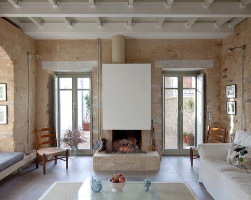 Lovely Large Mediterranean Living Room Idea