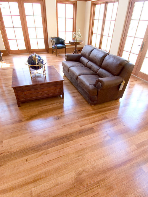 Natural red oak floor houzz for Natural red oak floors