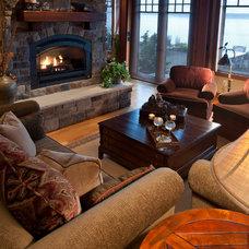 Traditional Living Room by Tath Hossfeld Designs