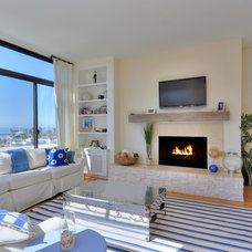 Beach Style Living Room by ZD Interiors