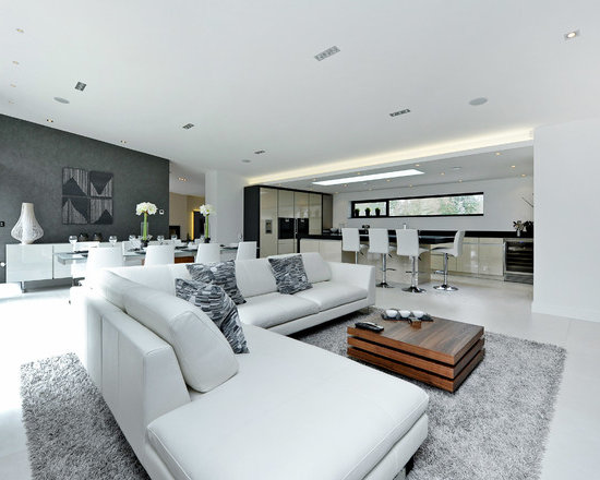 White Kitchen Open Living Room kitchen open to living room | houzz