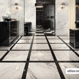 0c0e9fe646a Trendy formal porcelain floor living room photo in Other