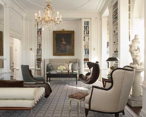 Modern classic houzz for Classic traditional living rooms