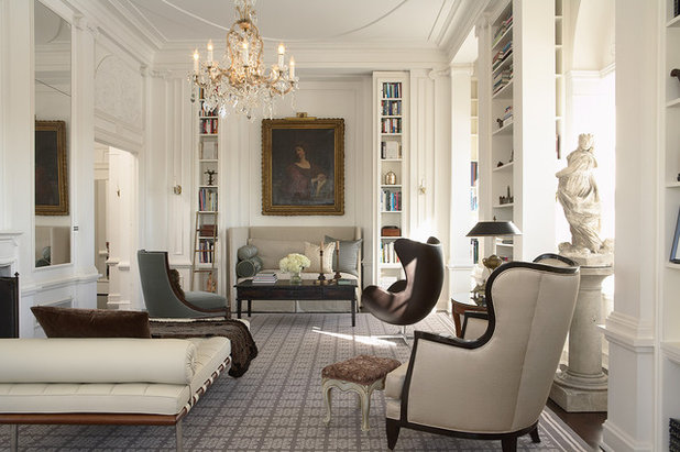 Traditional Living Room by Andrew Flesher Interiors