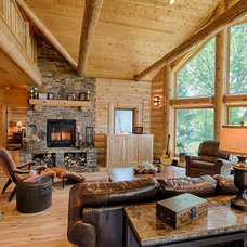 Rustic Living Room by Destree Design Architects, Inc.