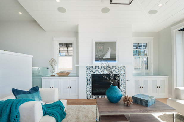 Beach Style Living Room by Noelle Interiors