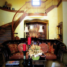 Rustic Living Room by Hopkins Designs