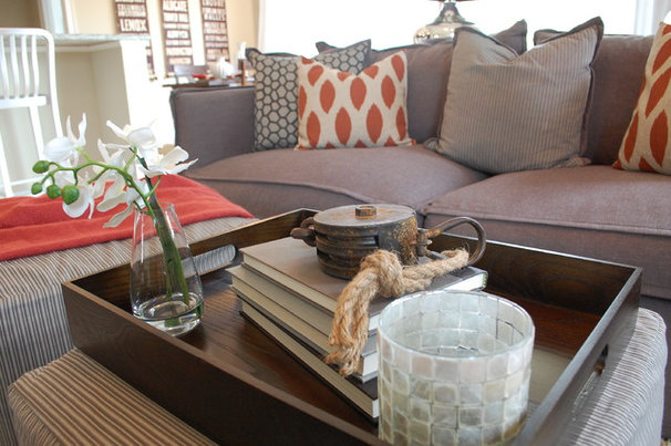 Traditional Living Room by Amy Tyndall Design
