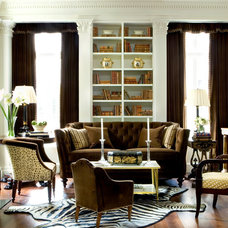 Traditional Living Room by Malone Construction Company