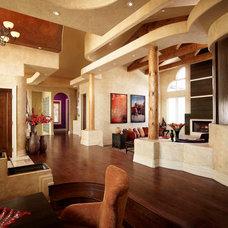 Southwestern Living Room by Regina Sturrock Design Inc.