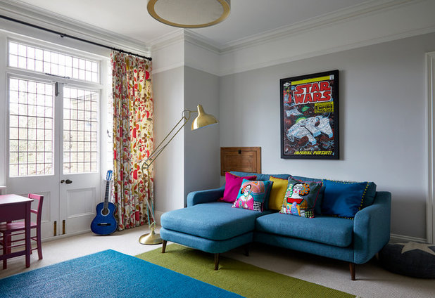 Transitional Living Room by Slightly Quirky Ltd