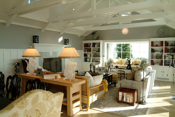 Beach Style Living Room by Neumann Mendro Andrulaitis Architects LLP
