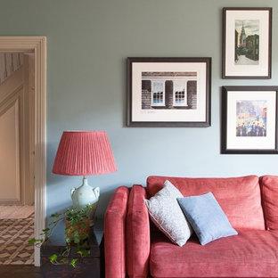 Rustikales Wohnzimmer in London