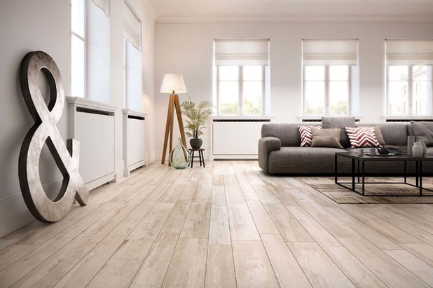 Industrial Living Room by Ceramiche Supergres
